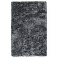 Hand-Tufted Silky Shag Grey Rug (9' x 12')