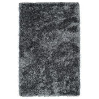 Hand-Tufted Silky Shag Grey Rug (9' x 12') - 9' x 12'