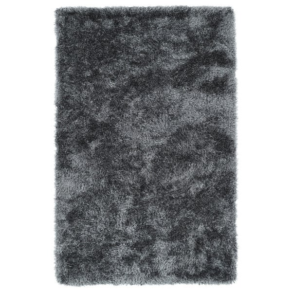 Hand-Tufted Silky Shag Grey Rug (9' x 12')