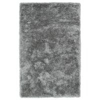 Hand-Tufted Silky Shag Silver Rug (3' x 5')