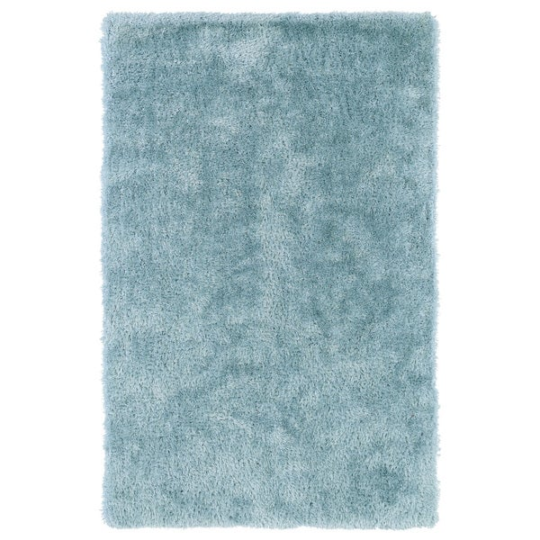 shop hand tufted silky shag light blue rug 2 39 x 3 39 on sale free shipping on orders over. Black Bedroom Furniture Sets. Home Design Ideas