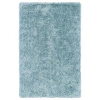 Hand-Tufted Silky Shag Light Blue Rug (3' x 5')