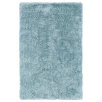 Hand-Tufted Silky Shag Light Blue Rug (5' x 7') - 5' x 7'