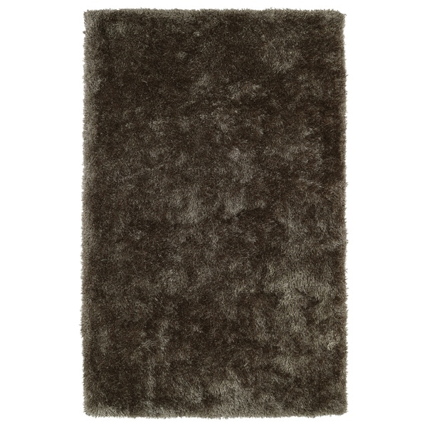 Hand-Tufted Silky Shag Light Brown Rug (2' x 3')