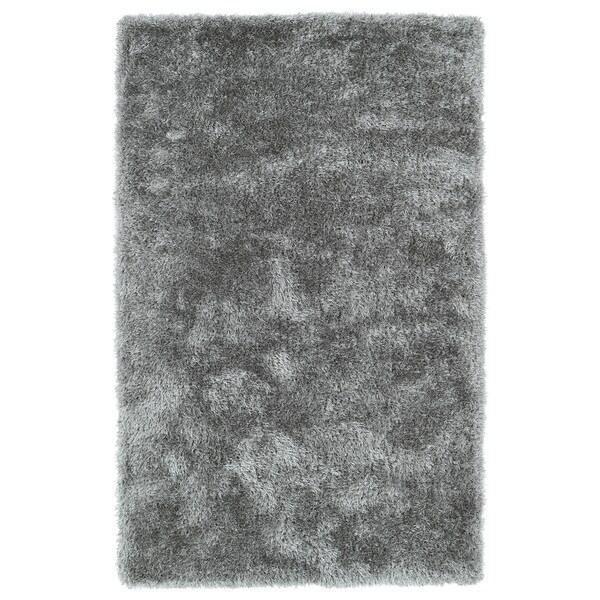 Hand-Tufted Silky Shag Silver Rug (2' x 3') - 2' x 3'