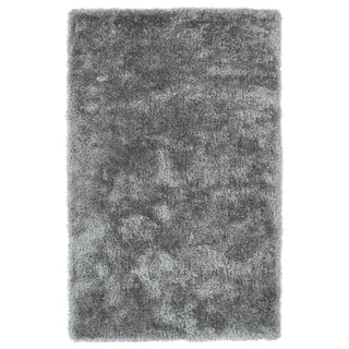 Hand-Tufted Silky Shag Silver Rug (5' x 7') - 5' x 7'