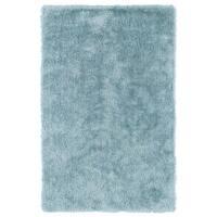 Hand-Tufted Silky Shag Light Blue Rug - 8' x 10'