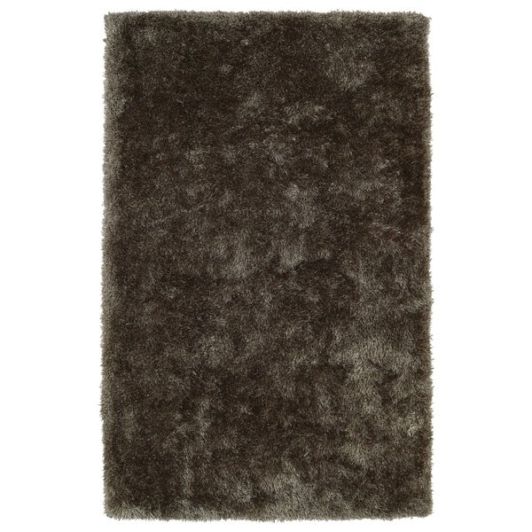Hand-Tufted Silky Shag Light Brown Rug (8' x 10')
