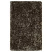 Hand-Tufted Silky Shag Light Brown Rug (8' x 10')