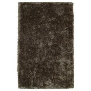 Hand-Tufted Silky Shag Light Brown Rug (9' x 12') - 9' x 12'
