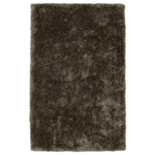 Hand-Tufted Silky Shag Light Brown Rug (9' x 12')