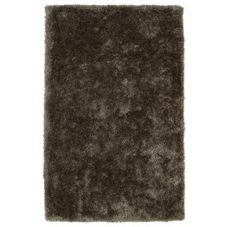Hand-Tufted Silky Shag Light Brown Rug (9' x 12')