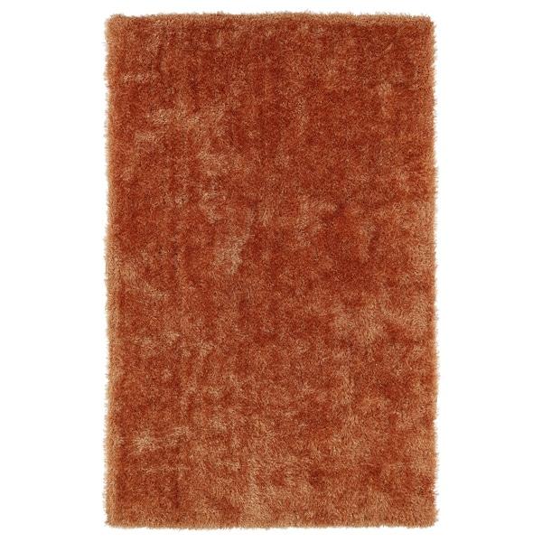 Hand-Tufted Silky Shag Orange Rug (8' x 10')