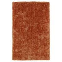 Hand-Tufted Silky Shag Orange Rug (2' x 3')