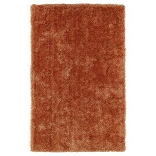Hand-Tufted Silky Shag Orange Rug (5' x 7') - 5' x 7'