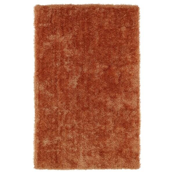 Hand-Tufted Silky Shag Orange Rug - 5' x 7'