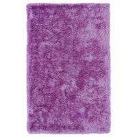 Hand-Tufted Silky Shag Lilac Rug - 2' x 3'