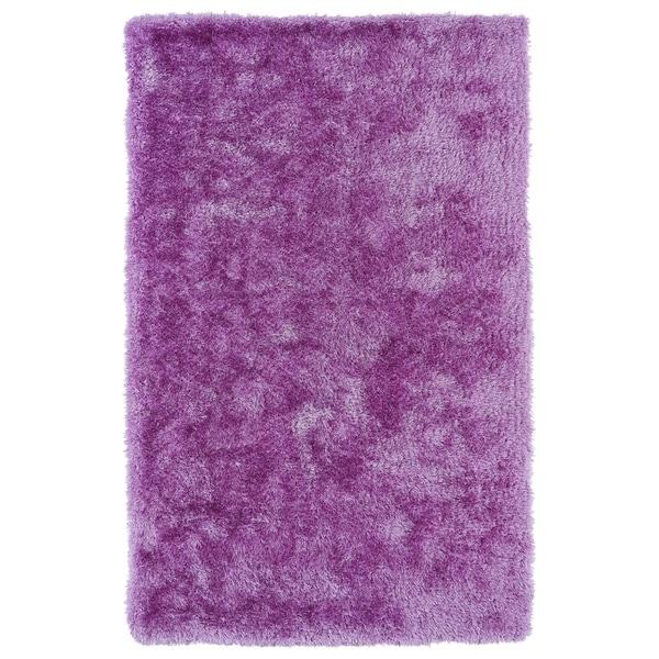 Hand-Tufted Silky Shag Lilac Rug (8' x 10')