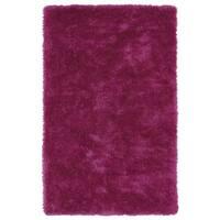 Hand-Tufted Silky Shag Pink Rug (2' x 3')