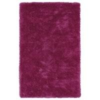 Hand-Tufted Silky Shag Pink Rug (5' x 7')