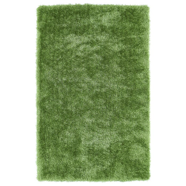 Hand-Tufted Silky Shag Lime Green Rug (2' x 3')
