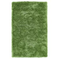 Hand-Tufted Silky Shag Lime Green Rug (8' x 10') - 8' x 10'