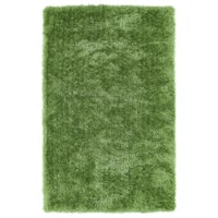 Hand-Tufted Silky Shag Lime Green Rug (8' x 10')