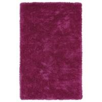 Hand-Tufted Silky Shag Pink Rug (8' x 10')