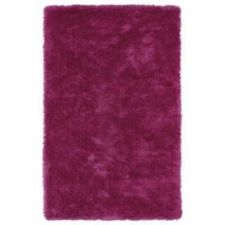Hand-Tufted Silky Shag Pink Rug (9' x 12') - 9' x 12'