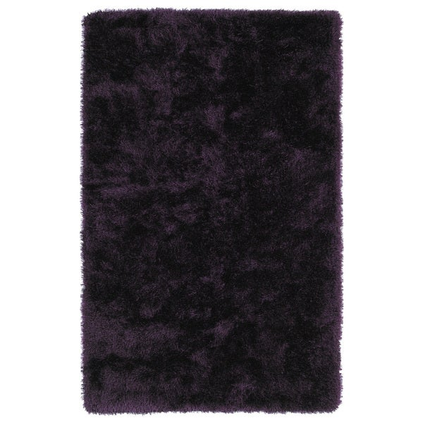 Hand-Tufted Silky Shag Purple Rug (3' x 5') - 3' x 5'