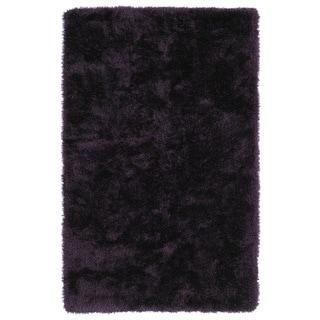 Hand-Tufted Silky Shag Purple Rug (3' x 5')