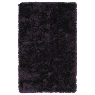 Hand-Tufted Silky Shag Purple Rug (5' x 7') - 5' x 7'