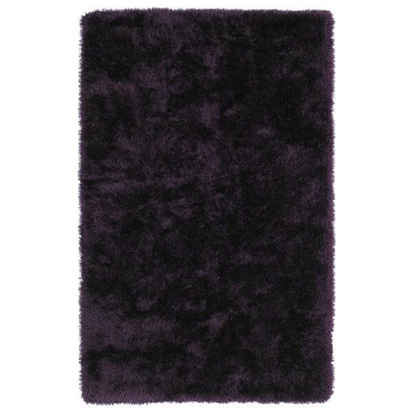 Hand-Tufted Silky Shag Purple Rug (9' x 12')
