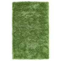 Hand-Tufted Silky Shag Lime Green Rug (3' x 5')