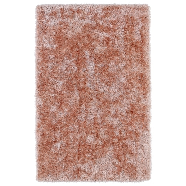 Hand-Tufted Silky Shag Salmon Rug - 8' x 10'