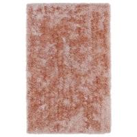 Hand-Tufted Silky Shag Salmon Rug (8' x 10') - 8' x 10'