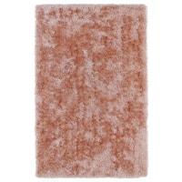 Hand-Tufted Silky Shag Salmon Rug (9' x 12')
