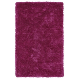 Hand-Tufted Silky Shag Pink Rug (3' x 5') - 3' x 5'