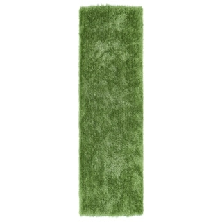 "Hand-Tufted Silky Shag Lime Green Rug (2'3 x 8') - 2'3"" x 8'"