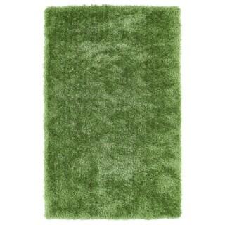 Hand-Tufted Silky Shag Lime Green Rug (5' x 7') - 5' x 7'