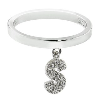 Eternally Haute Initial Charm Rings (More options available)