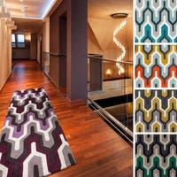 Hand-tufted Geometric Contemporary Runner Area Rug