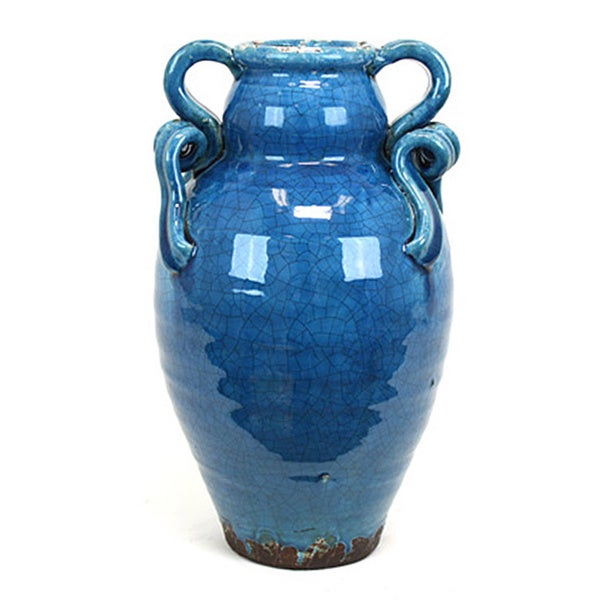 ceramic tuscan turquoise vase free shipping today. Black Bedroom Furniture Sets. Home Design Ideas