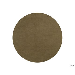 Hand-loomed Monroe Solid Casual Wool Round Area Rug (8' Round)