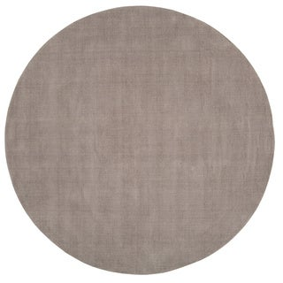 Hand Loomed Monroe Solid Casual Wool Round Area Rug (8u0027 Round) (