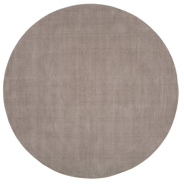 Hand-loomed Clayton Solid Wool Round Area Rug - 6' Round