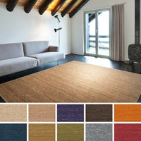 Hand Woven Casual Eco Natural Fiber Jute Round Area Rug 8 Square