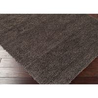 Hand Woven Kate New Zealand Felted Wool Shag Area Rug - 5' x 8'