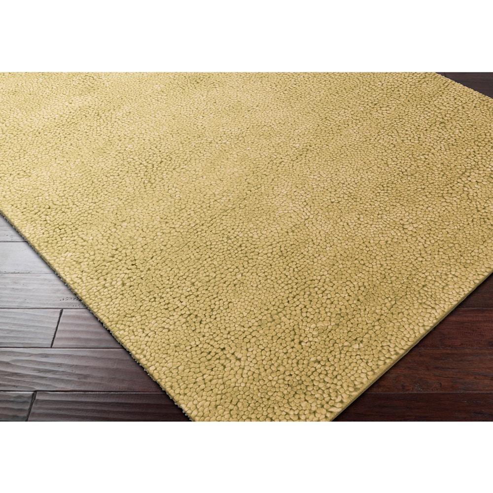 Hand-woven Ashley New Zealand Felted Wool Shag Area Rug (...