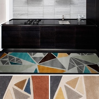Hand-tufted Barton Contemporary Abstract Runner Rug (2'6 x 8')